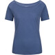 super.natural Essential Scoop Neck Tee 140 Maglietta a maniche corte Donna blu
